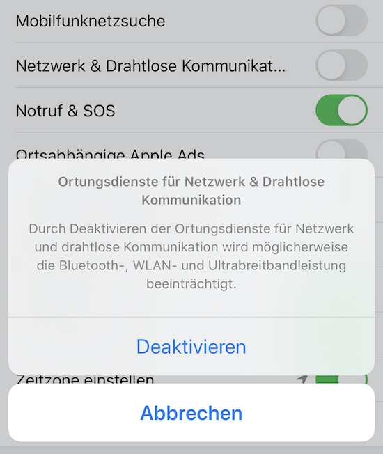 ortungsdienste aktivieren iphone