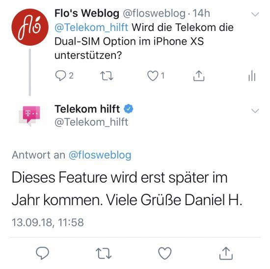 Sim Karte Telekom.Telekom Unterstützt Dual Sim Im Iphone Xs Was Ist Eigentlich Dsds